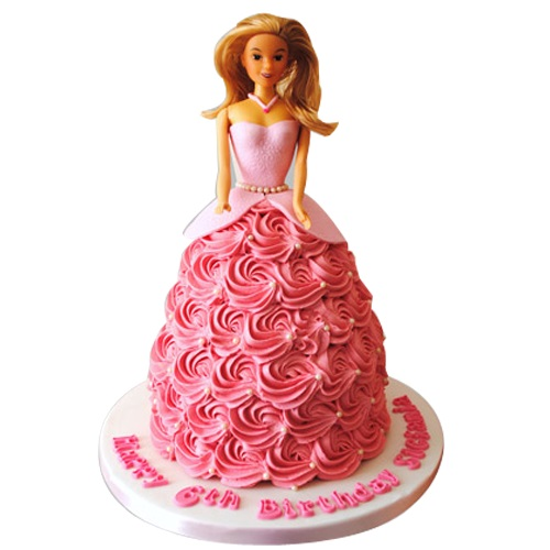 online barbie cake for girls birthday