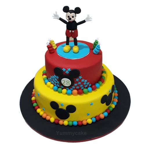 Number  Mickey Mouse Birthday Cake