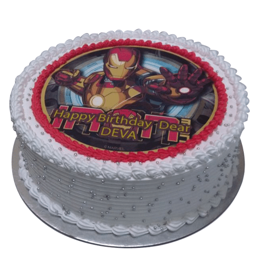 Super Iron Man Photo Cake Online Free Home Delivery Yummycake Birthday Cards Printable Trancafe Filternl
