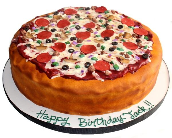 Pizza theme cake