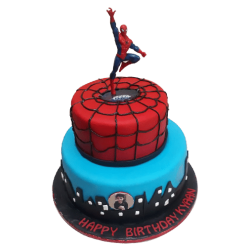 Spiderman Fondant Cake