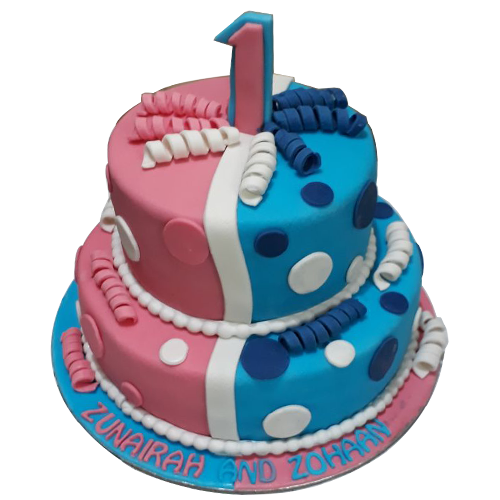 Terrific Twins Birthday Cakes Online Free Shipping Yummycake Funny Birthday Cards Online Unhofree Goldxyz