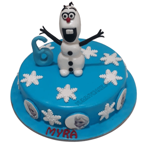Enjoyable Olaf Birthday Cake Online Free Delivery Yummycake Funny Birthday Cards Online Alyptdamsfinfo