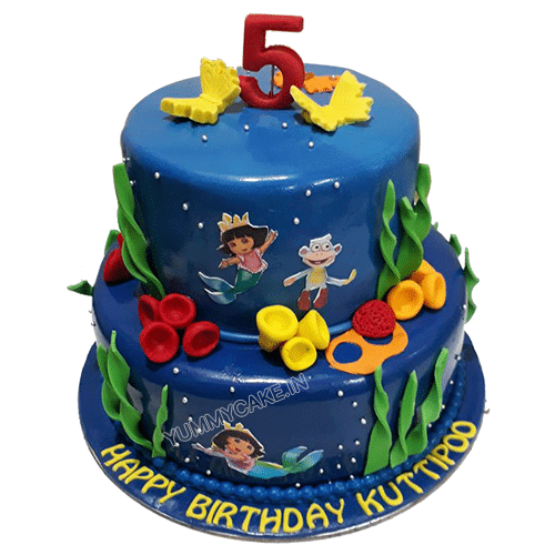 Tremendous 5 Kg Dora Cake Online For Birthday Free Delivery Yummycake Birthday Cards Printable Nowaargucafe Filternl