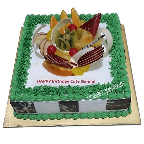 Celebration Smile Fruit Cake