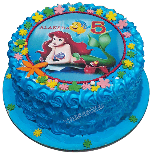 little mermaid cake online