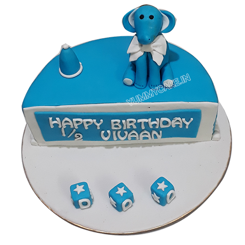 Six Months Birthday Cake