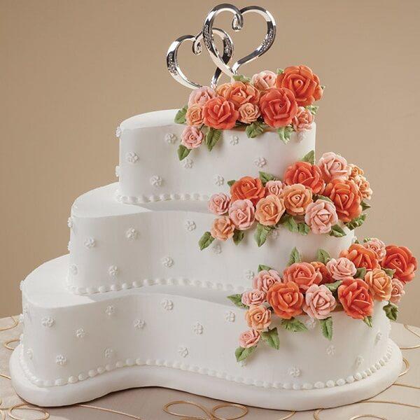 contemporary curves anniversary cake