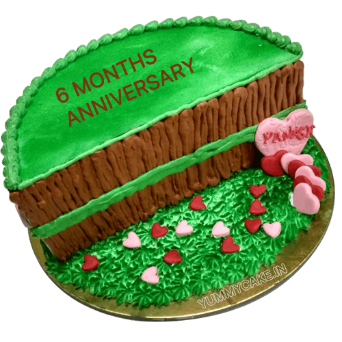 Six Months Anniversary Cake Online