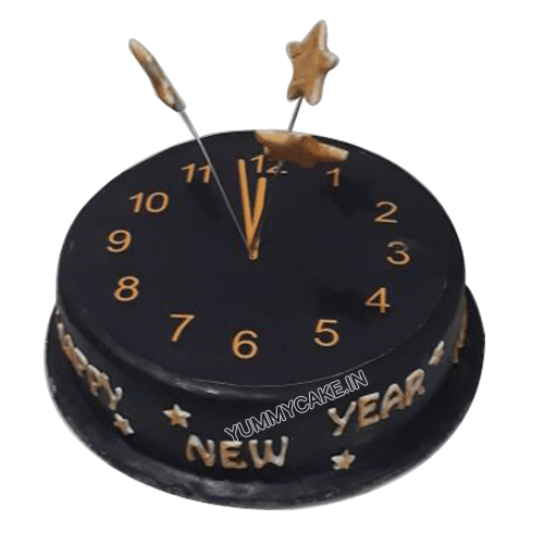 new year watch photo cake online