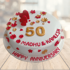 50th Marriage Anniversary Cake