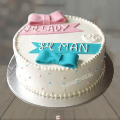 Cake for Twins Boy and Girl
