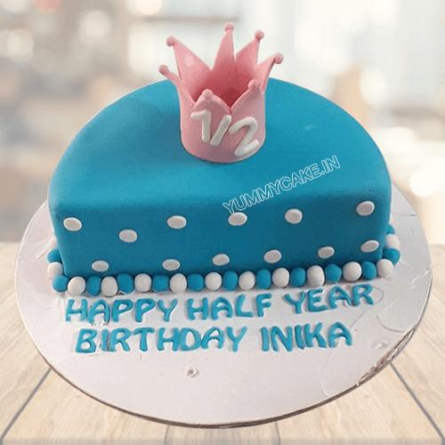 6 Months Cake Half Birthday Online