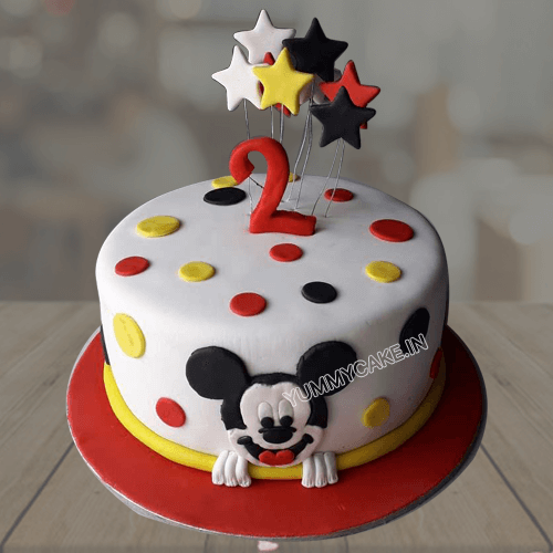 Enjoyable Mickey Mouse Fondant Cake Cartoon Cake Delivery In Delhi Ncr Personalised Birthday Cards Paralily Jamesorg