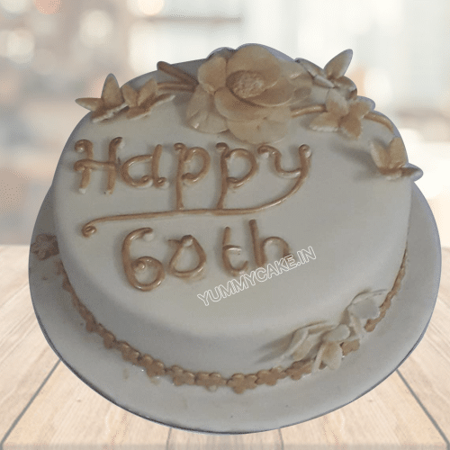 Fabulous 60Th Birthday Cake Yummycake Birthday Cards Printable Riciscafe Filternl