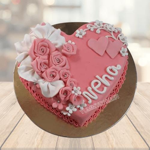 Heart Cake for Birthday
