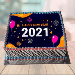 New Year Theme Cake