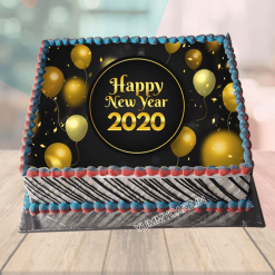 New Year Theme Cake