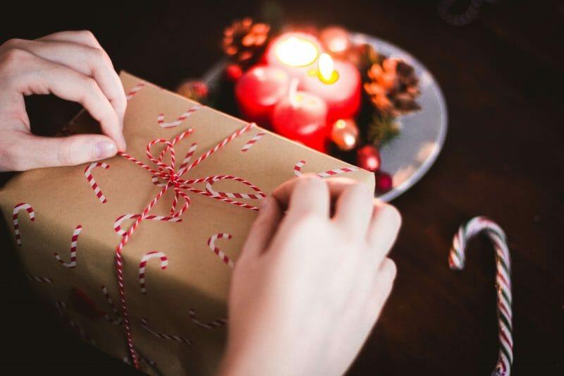 Girl opening leap year birthday gift box