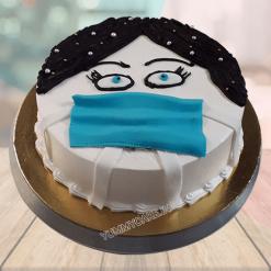 Mask Theme Cake
