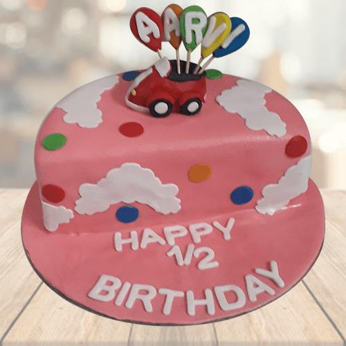 Half Birthday Cake for Baby Girl Online