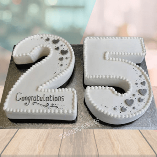 25th Anniversary Cake Online