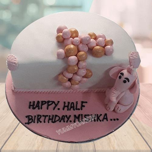 6 month birthday cake online