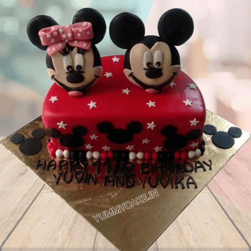 Half Birthday Cake for Twins