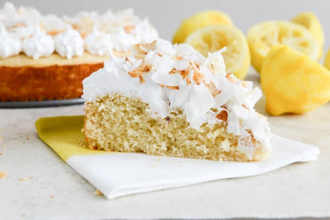 Lemon Cake With Marshmallow Frosting