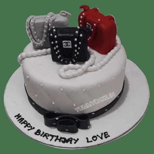 shopping handbag themed cake to gift mother