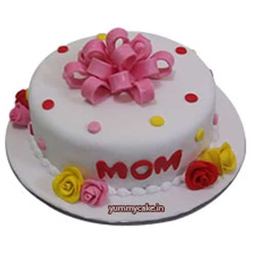 Colorful and bright mothers day cake