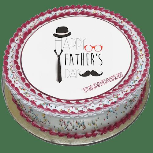 Mustache themed cake
