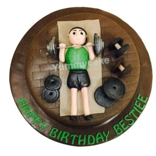 Gym themed cake