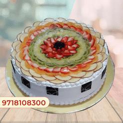 Fresh fruit cream cake