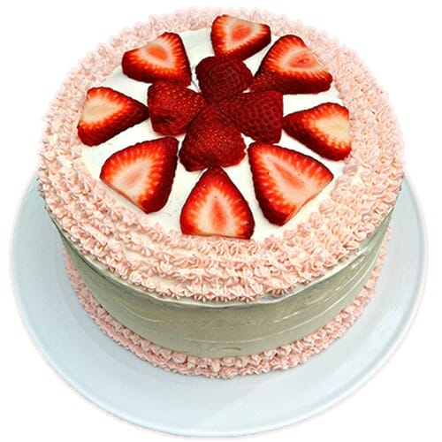 Vanilla with strawberry cake