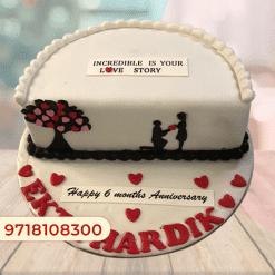 Half Year Marriage Anniversary Cake